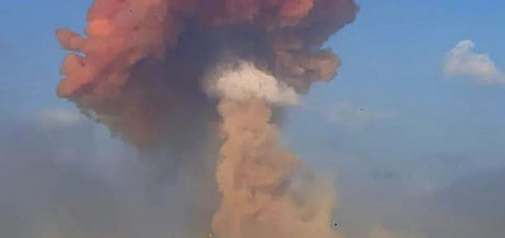 """突发! 黎巴嫩首都遭遇""""核弹级""""超大爆炸 超3000人伤亡 广岛长崎炼狱再现!"""